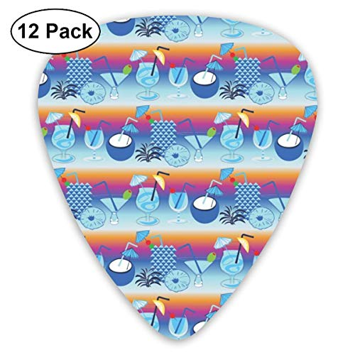 Sunset Cocktail (Sunset Cocktails Blue Hawaii_4167 Classic Celluloid Picks, 12-Pack, For Electric Guitar, Acoustic Guitar, Mandolin, And Bass)