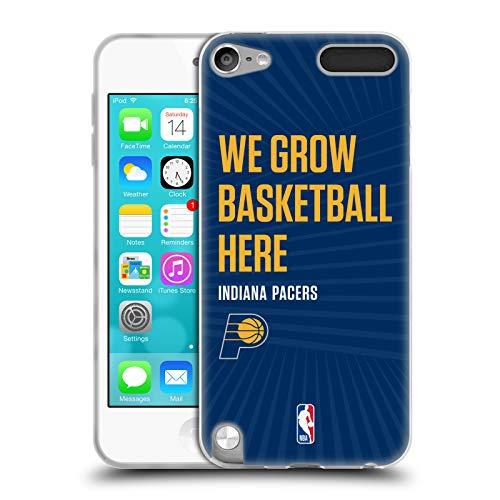 Head Case Designs Offizielle NBA Pacers We Grow Basketball Here 2018/19 Team Slogan 2 Soft Gel Hülle für Apple iPod Touch 5G 5th Gen Pac Ipod