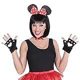 Disfraz de ratón para mujer, diseño de Minnie Mouse de Disney, 3 piezas