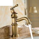 Tutti imitazione di rame rubinetto di bronzo/mobiletto del bagno in stile europeo rubinetto caldo e freddo/di rame pieno cinese/atmosfera intagliato
