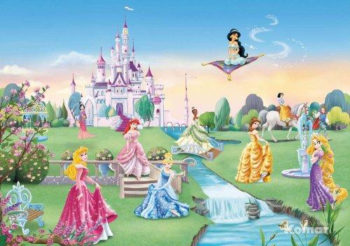 Preisvergleich Produktbild Fototapete Kindertapete PRINCESS CASTLE 368x254 süsse Disney Mädchentapete Prinzessinen Schloss