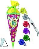 Unbekannt BASTELSET Schultüte -  Disney die Eiskönigin - Frozen  - 85 cm - incl. individueller Schleife + Name - mit / ohne Kunststoff Spitze - Zuckertüte - Set zum s..