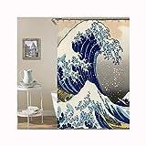 AnazoZ Anti-Schimmel Duschvorhang inkl. 12 Duschvorhangringe PEVA Waschbar Wasserdicht Anti-Bakteriell Badewanne Vorhänge für Badzimmer - Stil 5 168x183cm