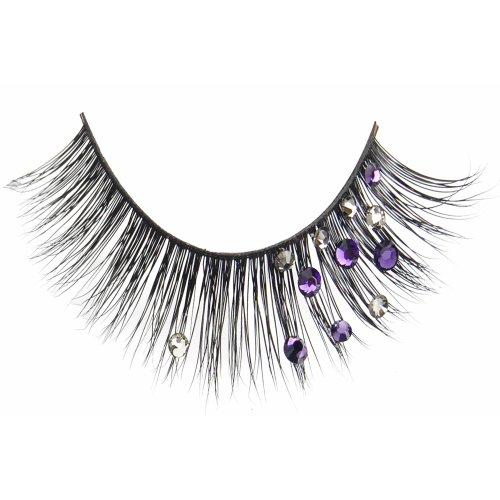 (3 Pack) FLUTTER Real Mink Fur Crystal Lashes - Geneva Purple Smoke Crystals