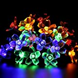 50 LED Solar Powered String Lights, Long Working Time & Waterproof, 22FT Fairy Blossom Blower Lights for Garden, Patio, Christmas, Outdoor, Party, Tree ( Multi-Color )