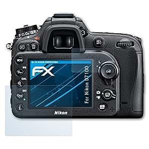 Nikon D7100 Schutzfolie - 3er Set atFoliX FX-Clear kristallklare Folie Displayschutzfolie