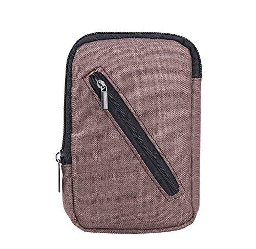 Genda 2Archer Leinwand Gürteltasche Gürtel Geld Handy-Tasche Reisetasche Bum Hüfttaschen (Grün) Kaffee