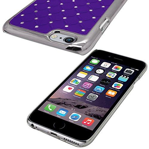 Samrick All Star Bling Diamante Hart Hybrid Rüstung Schale Schutzhülle für Apple iPhone 6/6S - Rosa (Pink) Violett