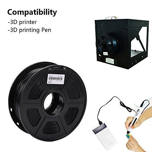 confronta il prezzo SUNLU PETG 3D filament 1.75mm 1KG(2.2lb), PETG 3D Printer Filament, Dimensional Accuracy +/- 0.02 mm, 1 kg Spool, 1.75 mm, Black PETG miglior prezzo