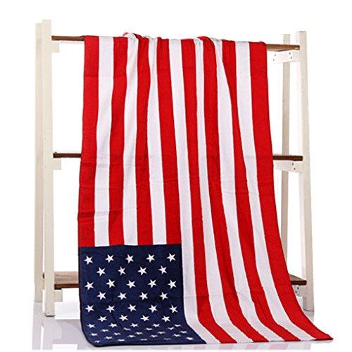Oversize-strand-badetuch (Paciffico-Strandtuch, reine Baumwolle, Dollar-Flaggen-Muster, Größe L, 139,7x 68,6cm Einheitsgröße US-Flagge)