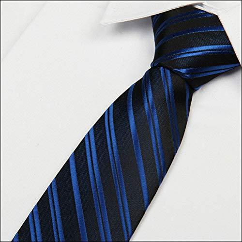 KYDCB Königsblau gestreifte Abendgarderobe 8 cm Formale britische Art-Mann-Krawatten Gravatas-Los-Großhandel (Männer Großhandel Krawatten)