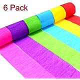 crepe paper streamers decorative tissue paper roll eholder 6 colors for festival birthday u0026