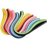 Pandahall - Lot de 1200pcs Bandes de Papier pour Quilling pour DIY Craft, Quilling Outil, environ 120strips/Sac, Papier, Couleurs Melangees, Couleurs Graduel, 530x5mm