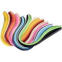 Pandahall - Lot de 1200pcs Bandes de Papier pour Quilling pour DIY Craft, Quilling Outil, environ 120strips/Sac, Papier, Couleurs Melangees, Couleurs Graduel, 390x3mm