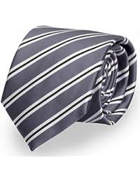 Cravate gris noir Fabio Farini