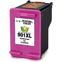 ArInk 901XL Cartucho de tinta Compatibles para HP 901 XL Impresora Compatibles CC654 A CC656 A para Officejet 4500/J4500/J4580 ( 1 Tricolor)