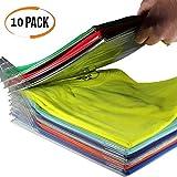YOOUOOK Organizer Folding Board,Wardrobe Storage Folding Board,Closet Organizer - Anti-Wrinkle| Regular Size (10)