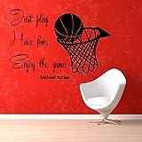 Adhesivos jugador de baloncesto de pared Baloncesto Deporte Gimnasio pared vinilo adhesivo adhesivo decoración del hogar Vinilo Art Wall Decor Nursery Room Decor