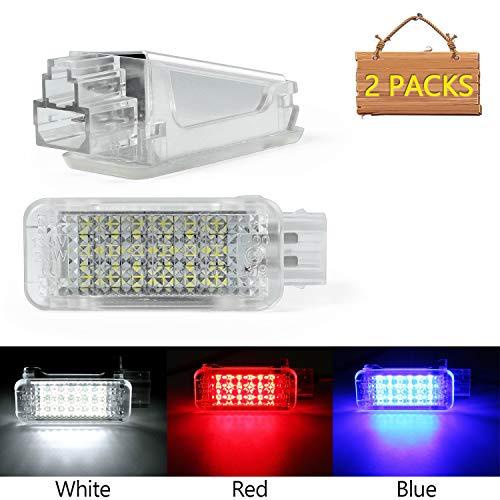 Luce di cortesia a LED,Gempro 2 confezione 18 luci SMD a LED con errore di errore bus integrato OBC CAN e Dissipatore di calore impermeabile colorato luce di benvenuto Per A2A3,A5,S8,Q5,Q7,TTRS(white)
