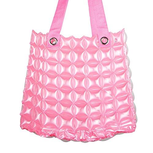 PVC Sacca Gonfiabile Spiaggia Shopping Donne Colore Della Caramella Impermeabili Portatili Borse Per La Spesa Pink