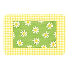Idea Regalo - Saleen 01045410101 - Set di Margherite Verde/Giallo 45 x 29 cm