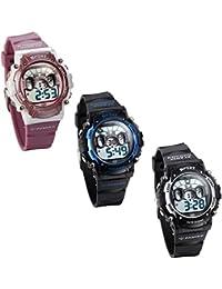 JewelryWe 3pcs Relojes para Niños Niñas Reloj Deportivo Digital Para Aire Libre Reloj Infantil De Colores