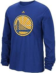 "Golden State Warriors Adidas NBA ""Tech Quilt"" Premium Print L/S Men's T-Shirt Chemise"