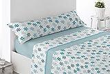 Cabetex Home - Juego de sábanas - Tres Piezas - Polialgodón - Mod. Muguir (Azul, 150_x_190/200 cm)