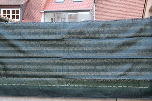 Panneau de clôture vert foncé var.Tailles Protection de la vie privée Protection du balcon Coupe-vent Store de tennis Filet d'ombrage 1,2 x 20 m vert foncé