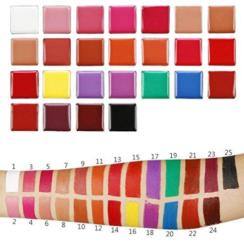 Gaddrt Professionnel 25 couleurs lèvres Gloss maquillage cosmétique palette Set