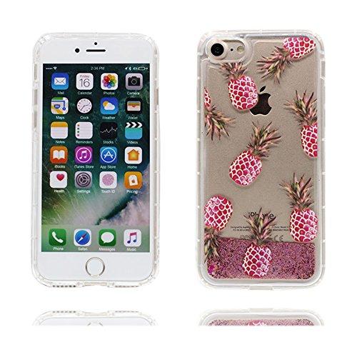 iPhone 6s Custodia, Liquido Flowing Stars Sparkle Bing Nuoto Shell Skin Visualizza chiaro / Cartoon Copertura iPhone 6 / 6S 4.7 pollici ( ananas ), Case Resistente agli urti di polvere color 2