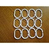 12 Shower bathroom curtain 12 hook ring set