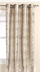 Editex Home Textiles Barbara Window Panel, 52 by 63-Inch, Gold