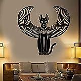 YXWYL Bastet Vinyl Wandaufkleber Abziehbilder Schlafzimmer Dekoration Alte Ägyptische Katze Göttin Von Ägypten Wandtattoo Wand Wohnzimmer57X61Cm