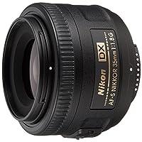 Nikon Af-S Dx Nikkor 35Mm F/1.8G Lens For Nikon Dslr Cameras, Black Jaa132Da