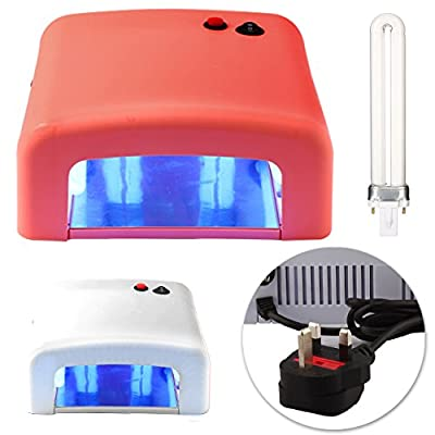 CellDeal New 36W UV Lamp Light Gel Curing Timer Nail Dryer with 4 x 9W Blubs