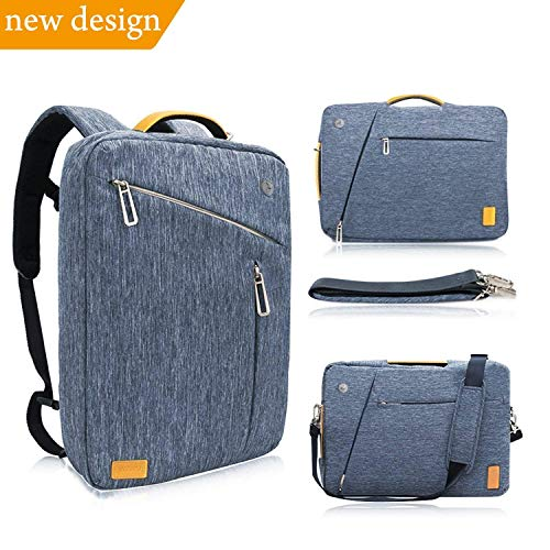 42bbc0d4cb2f WIWU Laptop Backpack 15.6 inch for Men Women Water Resistant Convertible  Canvas Multi-function Bag Briefcase Messenger - fits up to ...