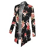 iHENGH Neujahrs Karnevalsaktion Damen Herbst Winter Bequem Mantel Lässig Mode Jacke Frauen Winter Langarm Druck Plus Size Open Blazer Strickjacke Mantel