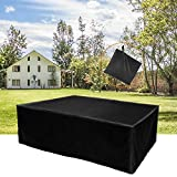 Garden Furniture Covers Rectangular ?200*160*70 CM?, Patio/Table Cover Large Waterproof Durable Furniture Cover Made of 420D Oxford cloth with silver coating For Outdoor with Black Packing Carry Bag