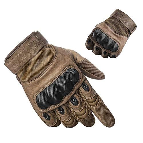 MYSdd Guanti moto Antiscivolo Hard Knuckle Full Finger Gloves Guanti protettivi Gear Sport all'aperto Racing Motocross ATV TraspiranteArmy GreenS
