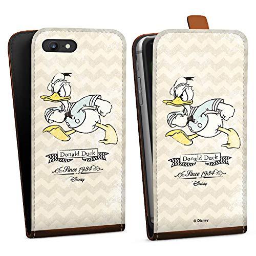 DeinDesign Tasche kompatibel mit Apple iPhone 7 Flip Case Hülle Disney Donald Duck Vintage Fanartikel Geschenke (Duck-tasche Donald)