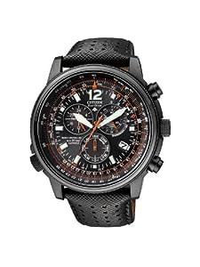 Citizen Promaster Sky AS4025-08E - Reloj cronógrafo de cuarzo para hombre, correa de cuero color negro de Citizen