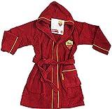 Neue Bademantel mit Kapuze offizielle A.S. Roma TG S M L XL XXL gelb rot 100% Micro Schwamm reine Baumwolle Herren M - 46/48