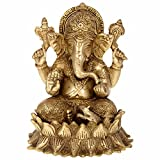 Aone India Lord Ganesha Sitting on Lotus...