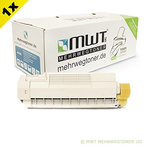 Preisvergleich Produktbild 1x MWT Toner für OKI MC 560 DN Plus N ersetzt 43865721 Gelb Yellow Patrone Cartridge Kartusche