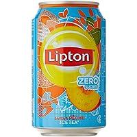 Lipton Ice Tea Saveur Pêche Light Zéro Sucres le Pack 6 Boîtes X 33Cl