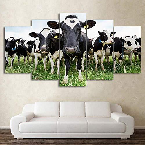 �ck Leinwand Kunst Milch Kuh Malerei Wandbilder Für Wohnzimmer Poster Dekoration Drucke Dorp Versand Rahmenlose 30 * 40 * 2 30 * 60 * 2 30 * 80 Cm ()