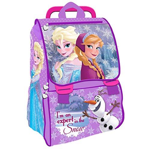 Frozen zaino est trolley elsa/anna/olaf snow lilla