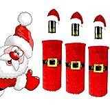 HENGSONG 1 Stück Weihnachten Weinflasche Taschen Beutel Flaschen Abdeckung Party Tisch Deko Weihnachtsdeko