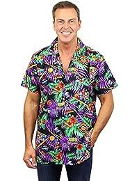 King Kameha   Funky Chemise Hawaïenne   Hommes   XS - 6XL   Manche-Courte   Poche-Avant   Hawaiian-Imprimer   Pool Billiards   Noir